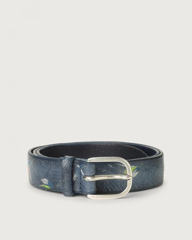 Orciani Bamboo leather belt Leather Blue