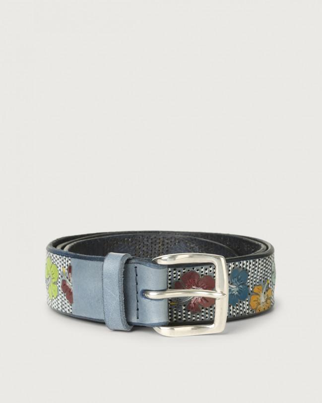Orciani Hawaii leather belt Leather Denim