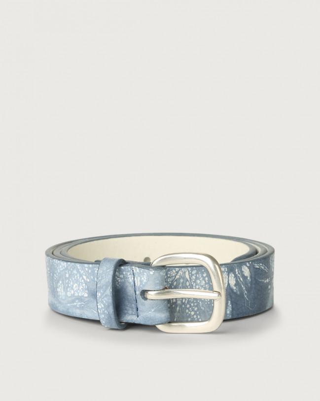Orciani Marmo leather belt Leather Denim