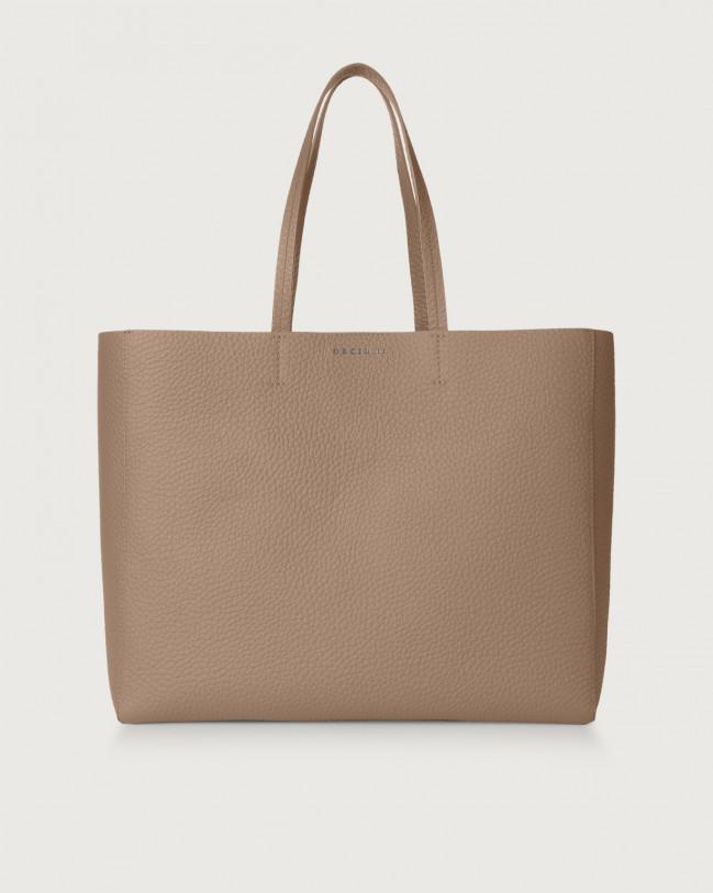 Orciani Le Sac Soft leather tote bag Leather Taupe