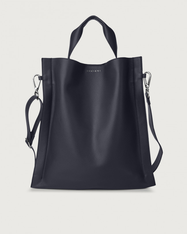 Orciani Iris Micron leather shoulder bag Leather Navy