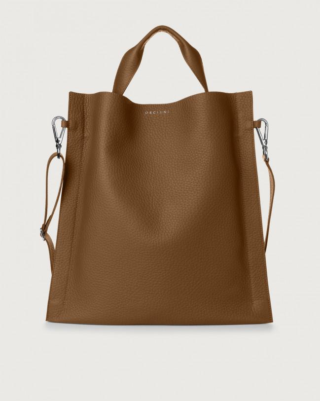 Orciani Iris Soft leather shoulder bag Leather Caramel