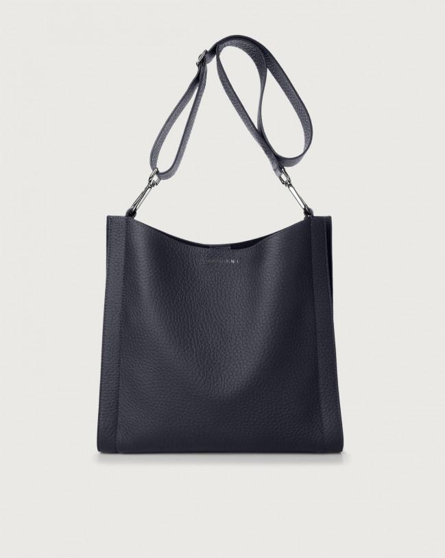 Orciani Iris Soft leather crossbody bag Leather Navy