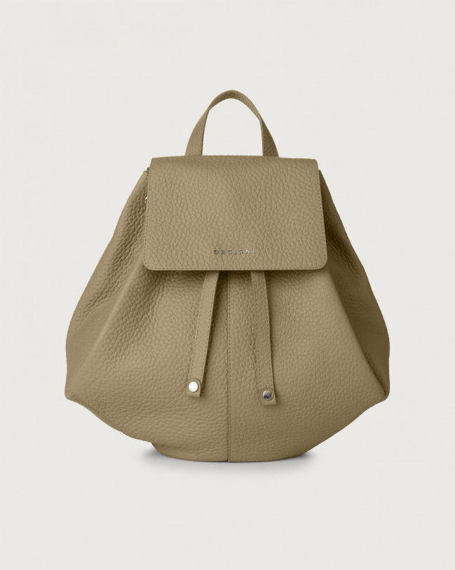 Orciani Iris Soft leather backpack Leather Kaki