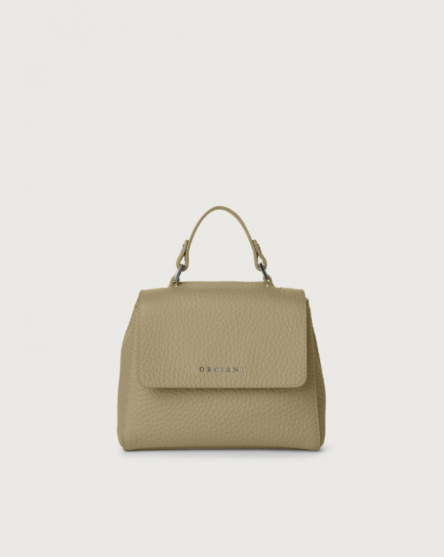 Orciani Sveva Soft mini leather handbag with strap Leather Kaki