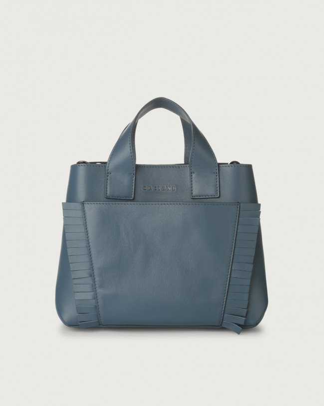 Orciani Nora Liberty Fringe leather handbag Leather Denim