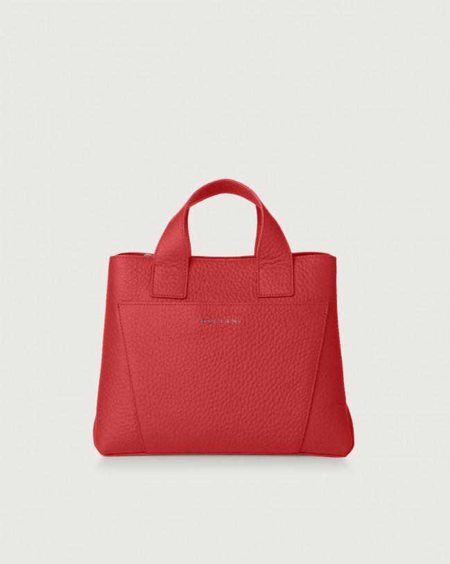 Orciani Nora Soft leather handbag Leather Marlboro red