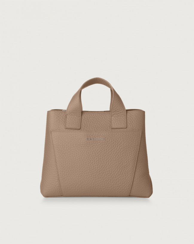 Orciani Nora Soft leather handbag Leather Taupe