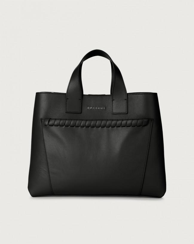 Orciani Nora Liberty large leather handbag Leather Black