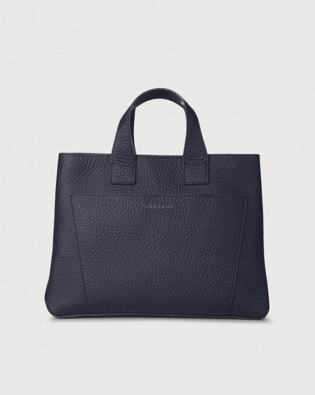 Orciani Nora Soft large leather handbag Leather Navy