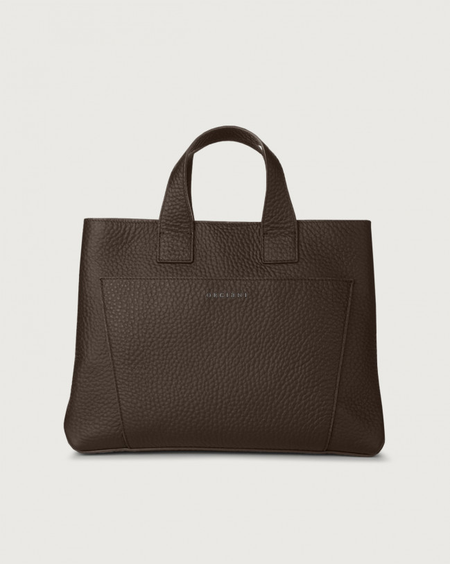 Orciani Nora Soft large leather handbag Leather Chocolate