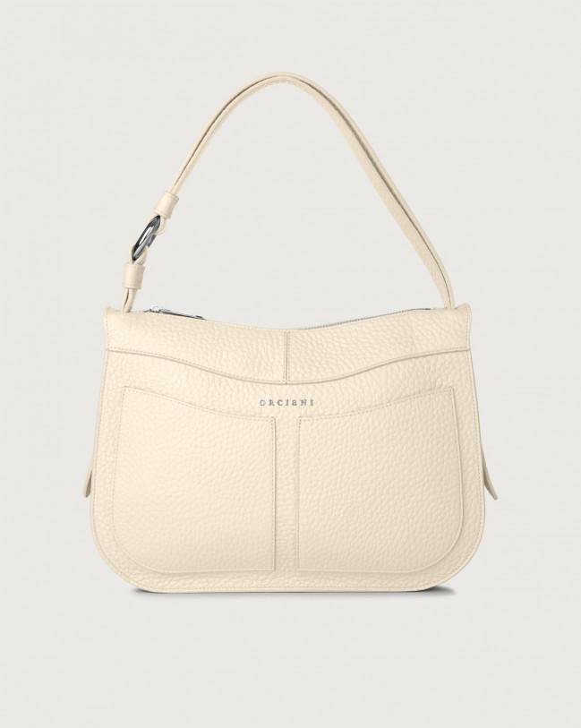 Orciani Ginger Soft medium leather shoulder bag Leather Ivory