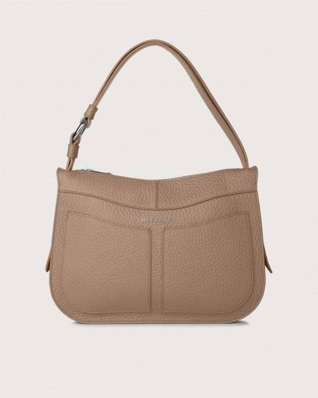 Orciani Ginger Soft medium leather shoulder bag Leather Taupe