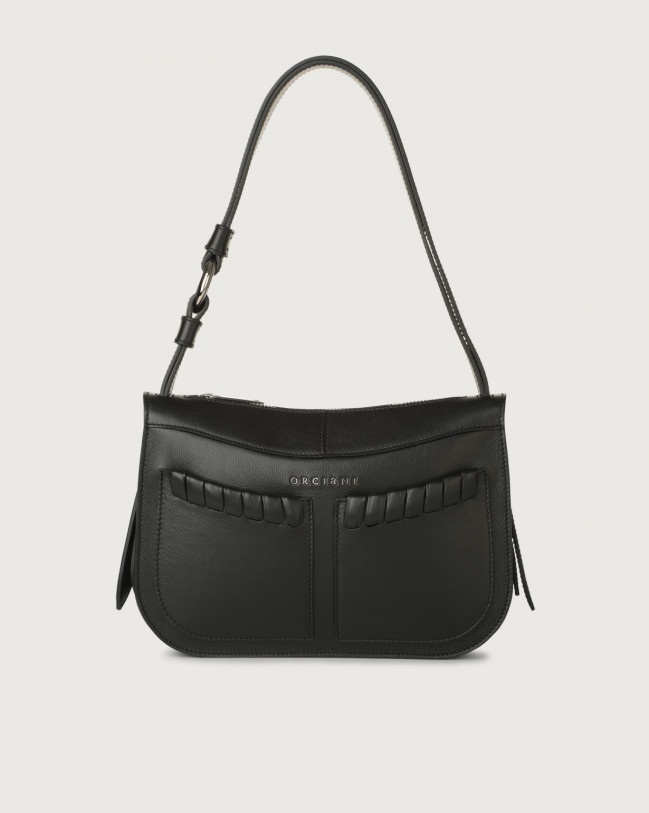 Orciani Ginger Liberty small leather shoulder bag Leather Black