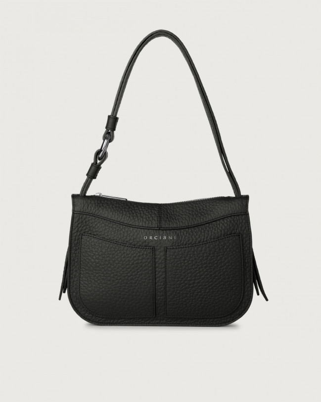 Orciani Ginger Soft small leather shoulder bag Leather Black