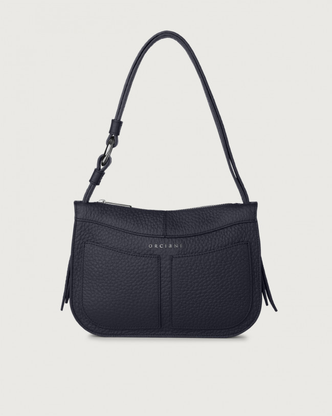 Orciani Ginger Soft small leather shoulder bag Leather Navy