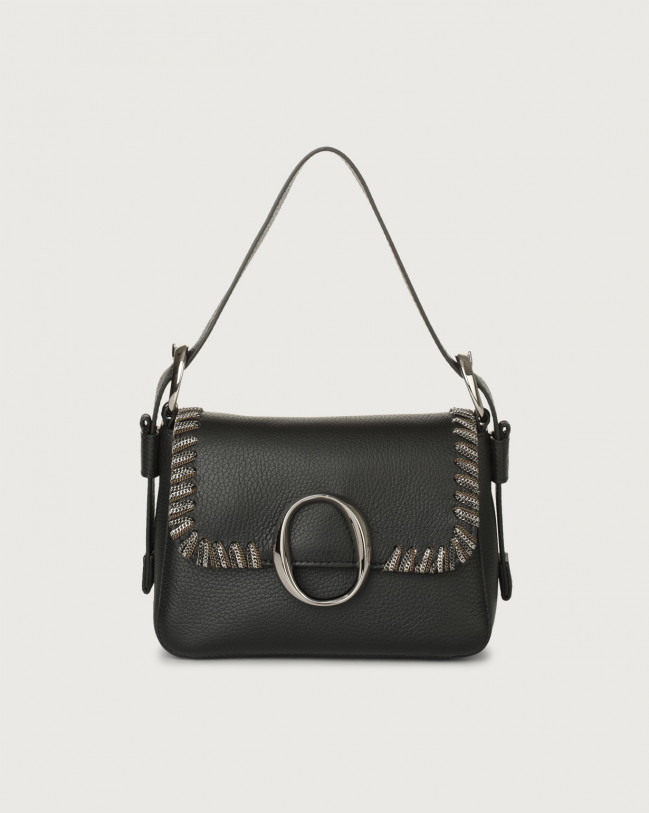 Orciani Soho Chain leather mini bag with strap Leather Black