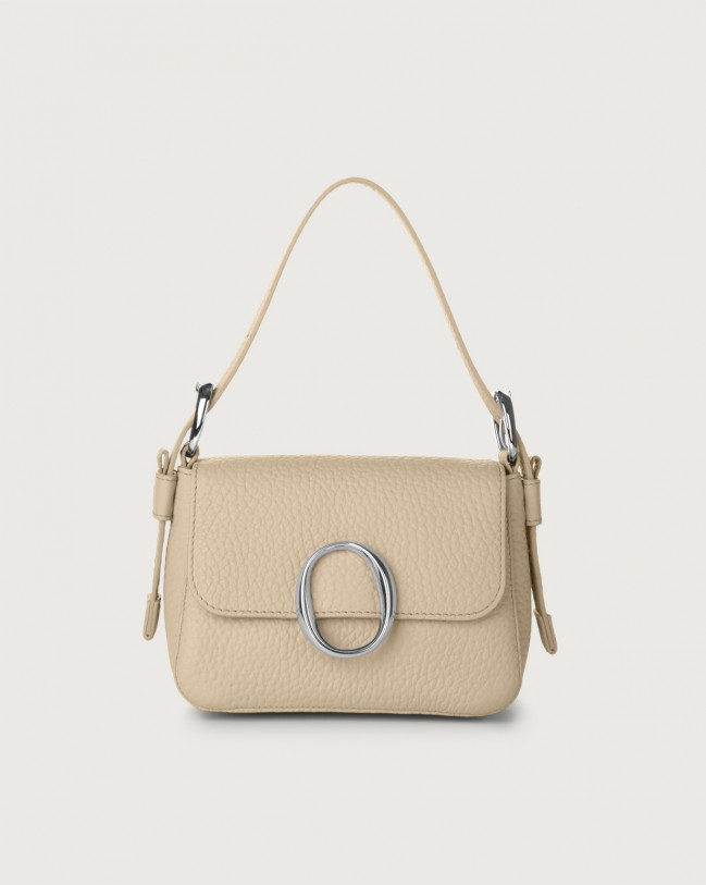Orciani Soho Soft leather mini bag with strap Leather Sand