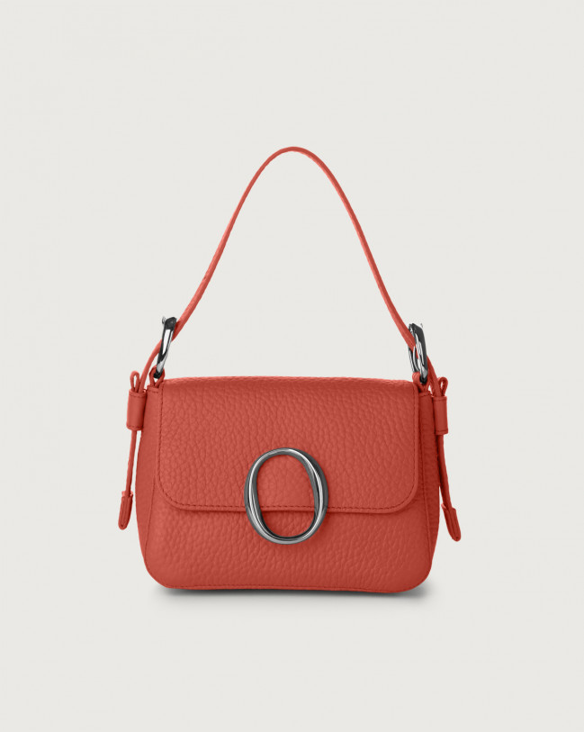 Orciani Soho Soft leather mini bag with strap Leather Brick