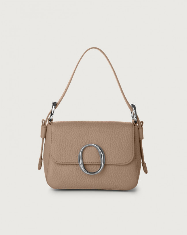 Orciani Soho Soft leather mini bag with strap Leather Taupe