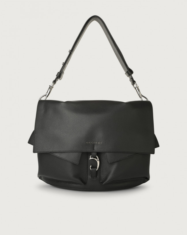 Orciani Scout Micron leather shoulder bag Leather Black