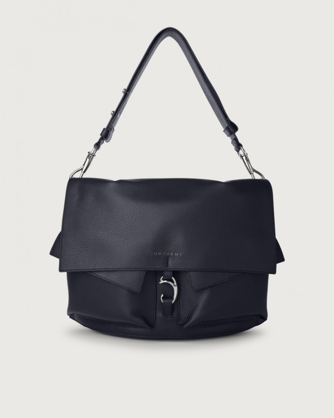 Orciani Scout Micron leather shoulder bag Leather Navy