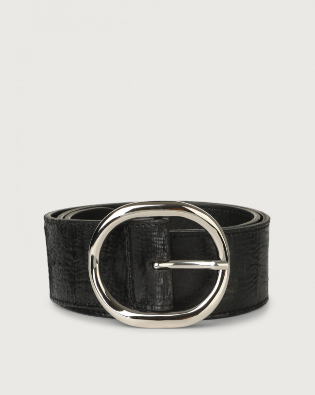 Orciani Cutting high-waist leather belt Leather Black