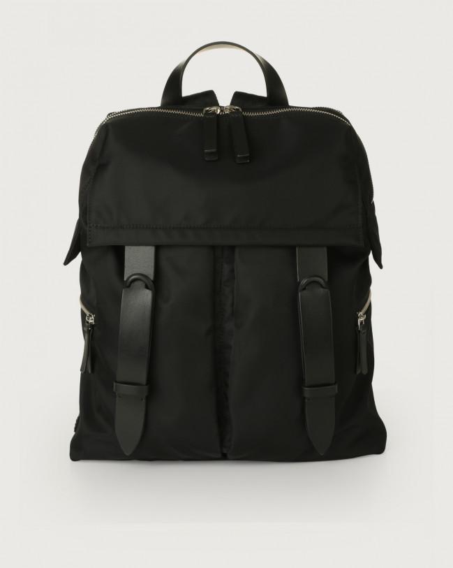Orciani Nobuckle Eco-logic Planet backpack Canvas, Leather Black