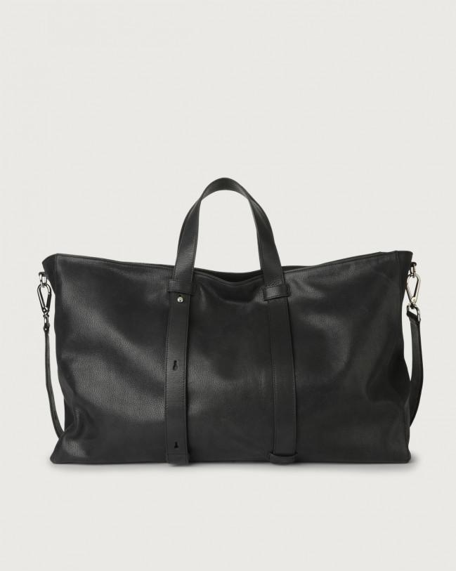 Orciani Chevrette large leather weekender bag Leather Black