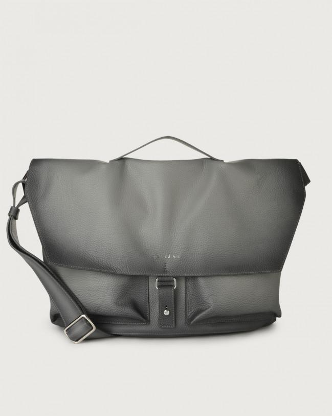 Orciani Micron Deep leather crossbody bag Leather Grey