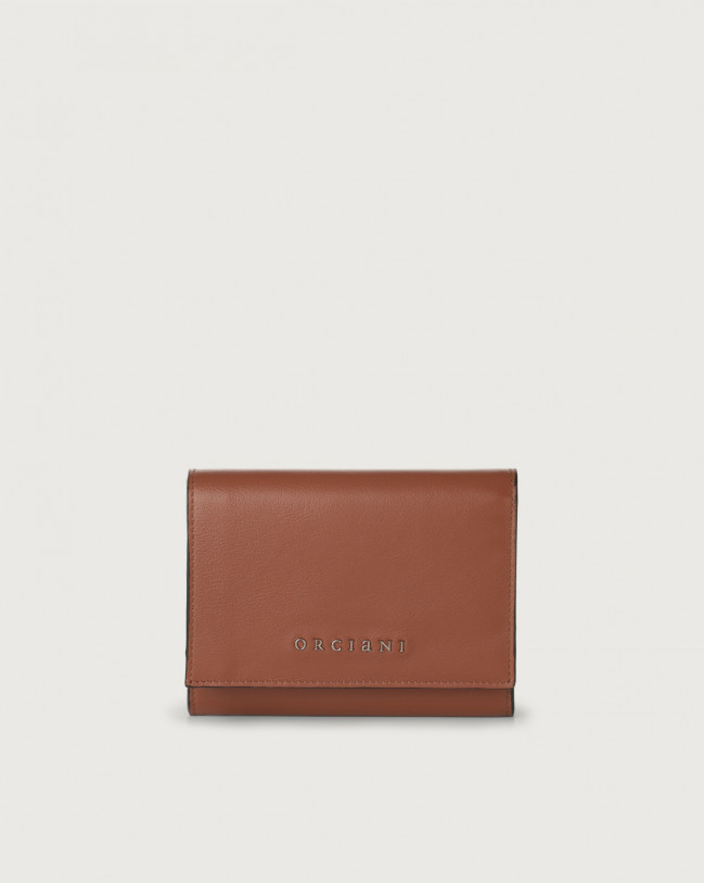 Orciani Liberty small leather envelope wallet Leather Cognac