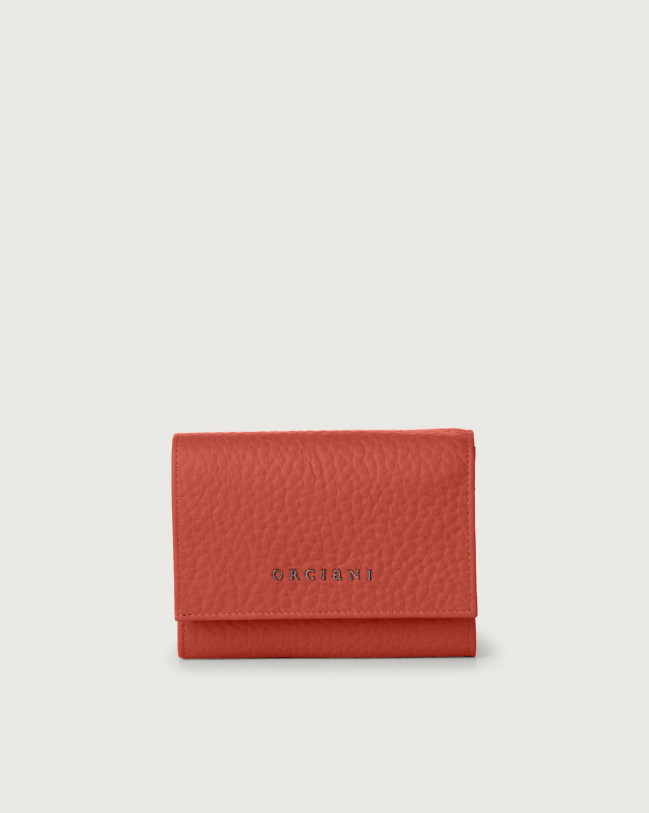 Orciani Soft small leather envelope wallet with RFID Leather Brick