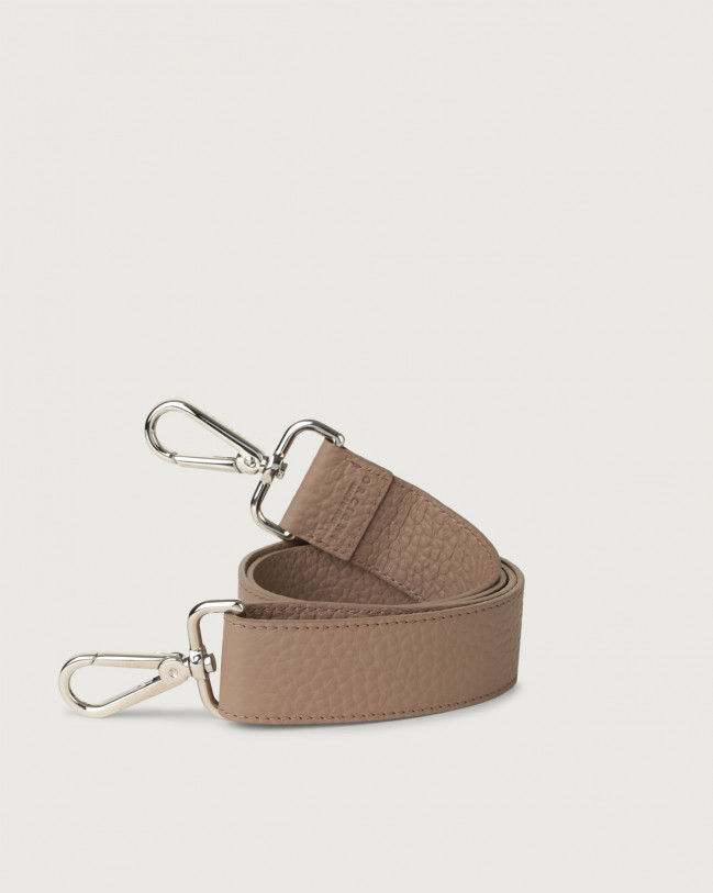 Orciani Soft adjustable leather strap Leather Taupe