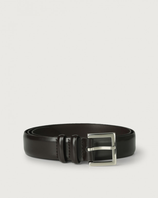 Orciani Toledo classic leather belt Leather Black