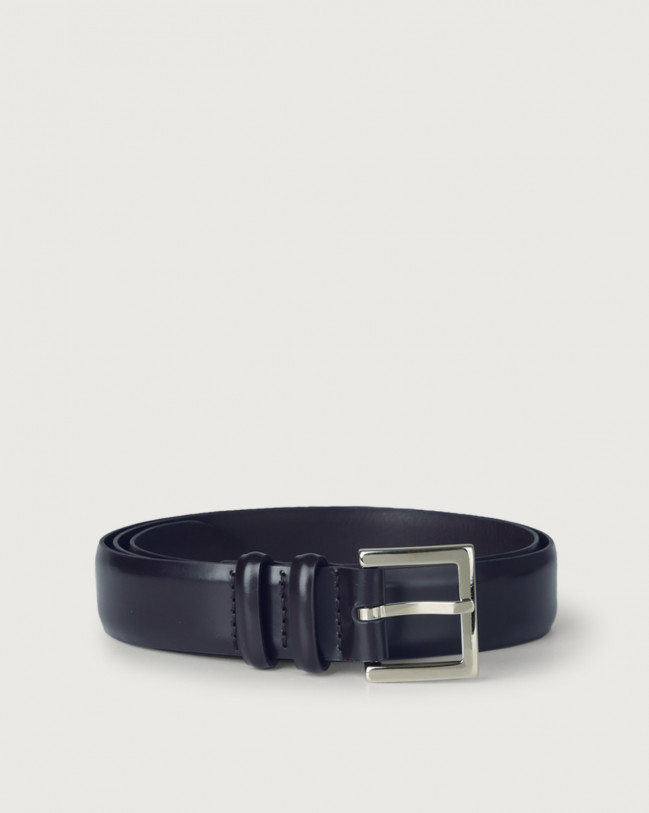 Orciani Toledo classic leather belt Leather Blue