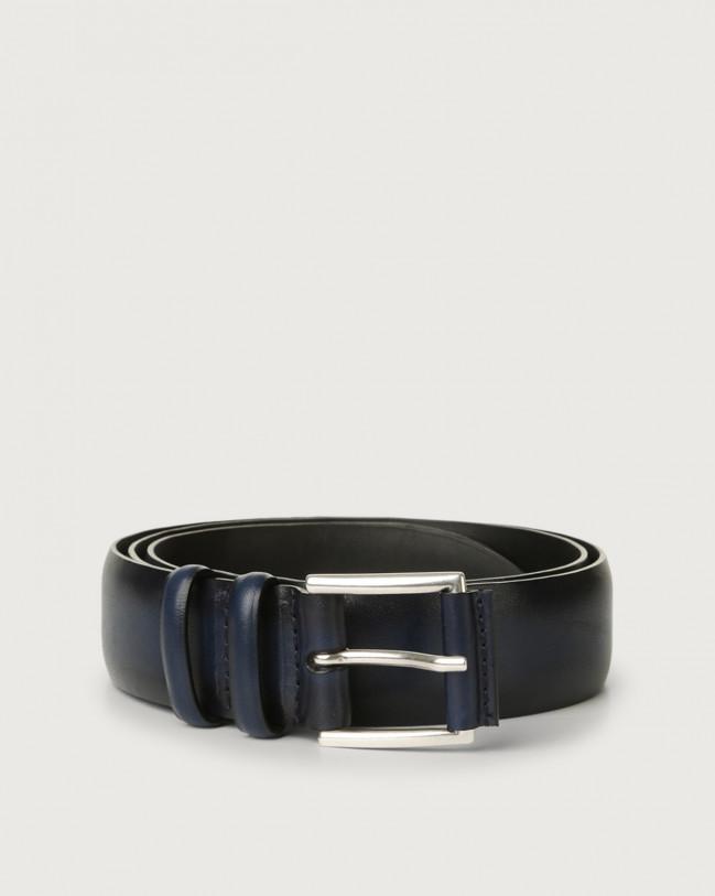Orciani Buffer leather belt Navy