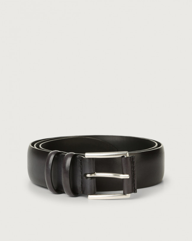 Orciani Buffer leather belt Leather Black