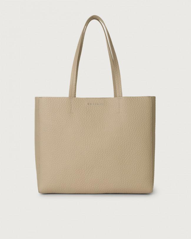 Orciani Le Sac Soft small leather tote bag Leather Sand