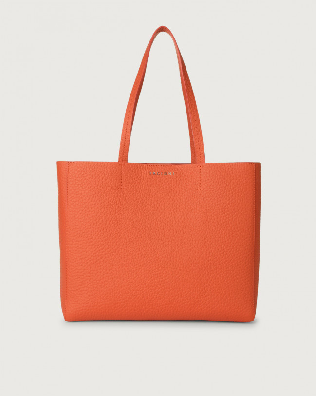 Orciani Le Sac Soft small leather tote bag Leather Coral