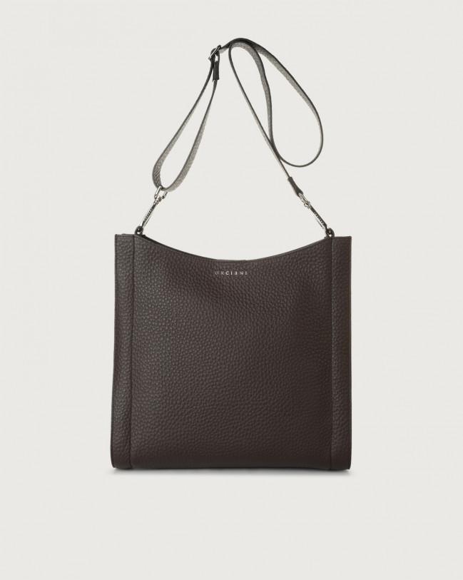 Orciani Iris Soft leather crossbody bag Leather Chocolate