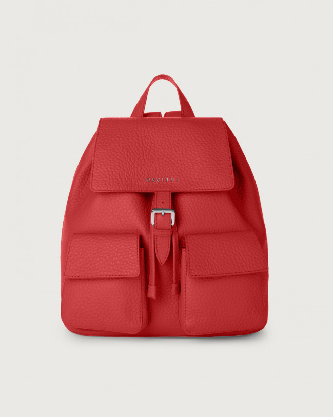 Orciani Charlotte Soft leather backpack Leather Marlboro red