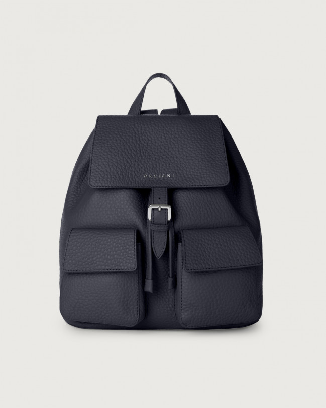 Orciani Charlotte Soft leather backpack Leather Navy