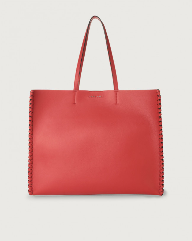 Orciani Le Sac Liberty Mesh large leather tote bag Leather Red