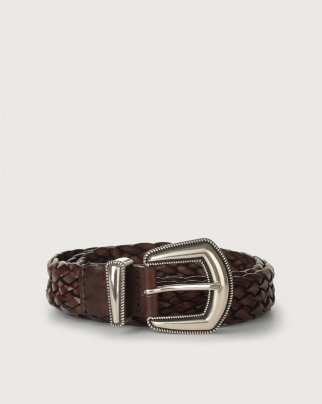 Orciani Masculine western details leather belt Leather Chocolate