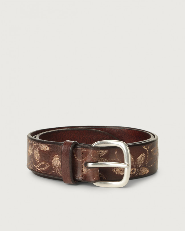 Orciani Stain Soapy leather belt Leather Honey