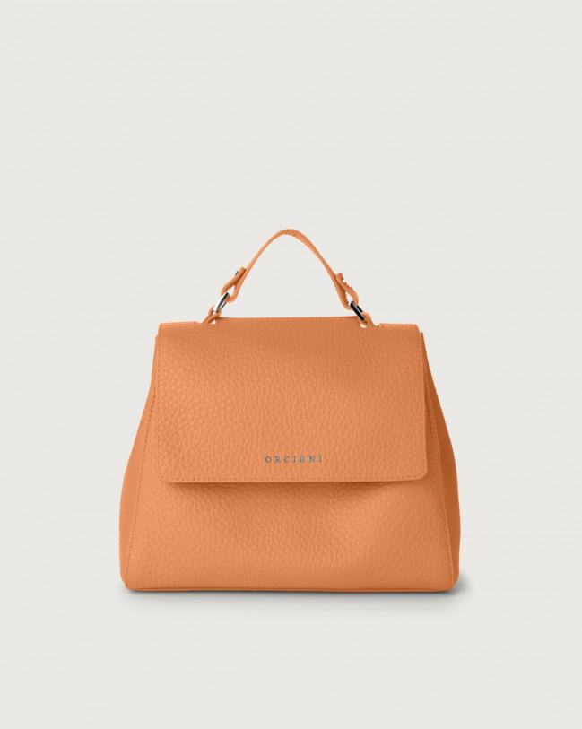 Orciani Sveva Soft small leather handbag with strap Leather Fard