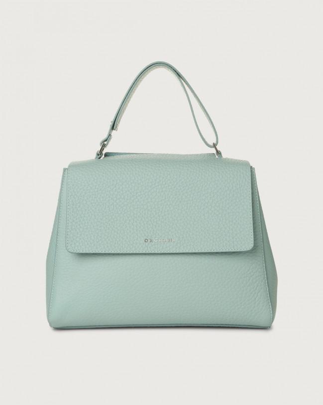 Orciani Sveva Soft medium leather shoulder bag Anise