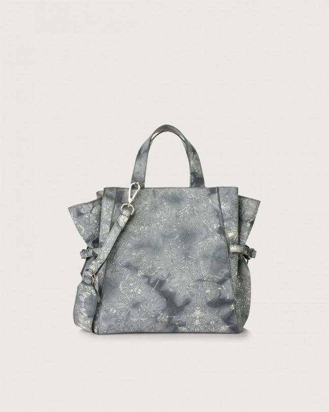 Orciani Fan Caleido medium leather handbag Leather Grey