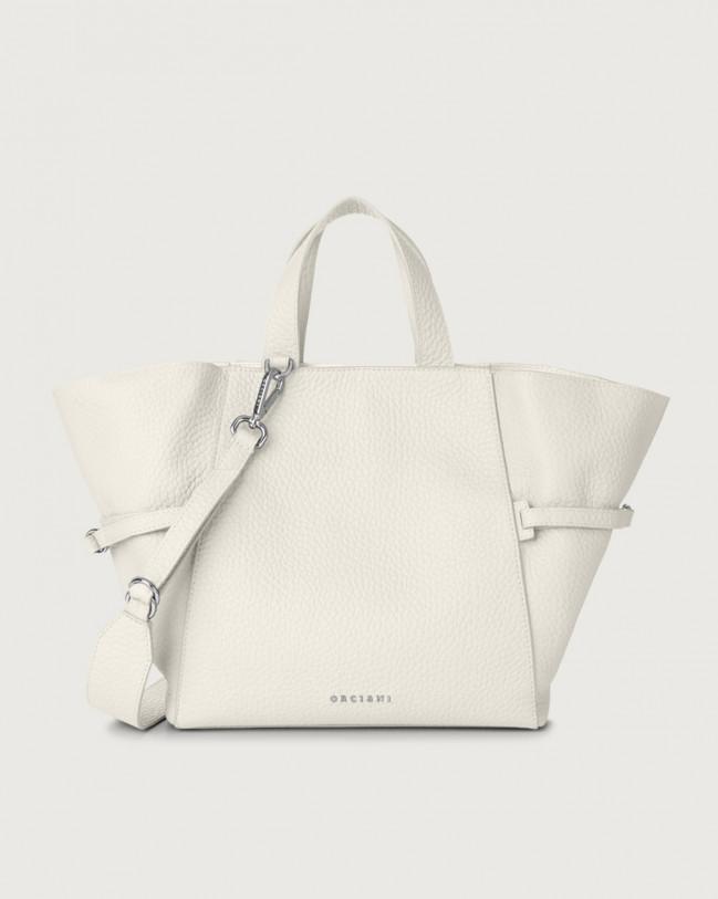 Orciani Fan Soft medium leather handbag Leather White