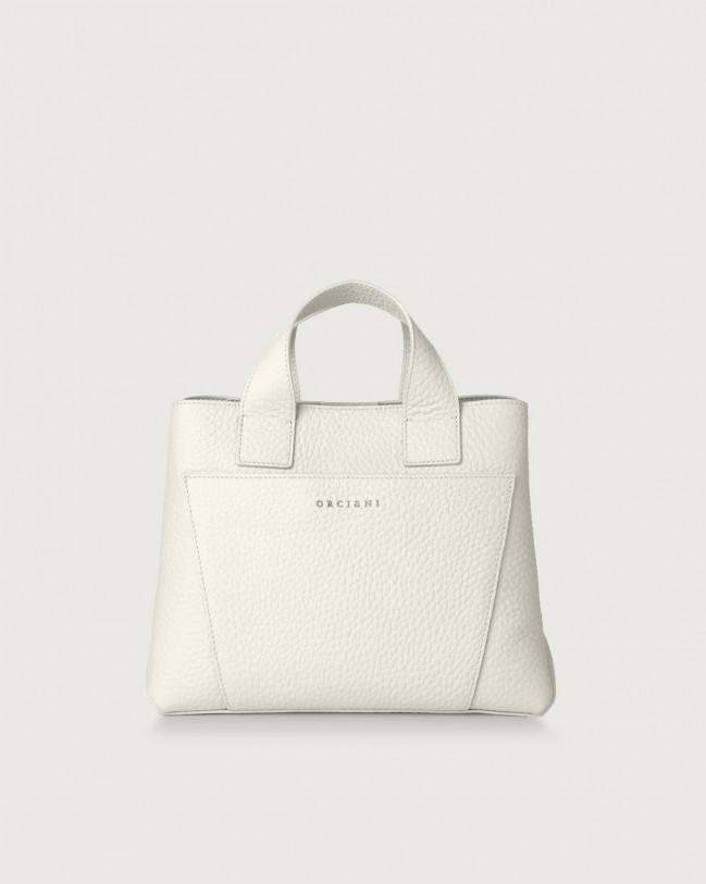 Orciani Nora Soft leather handbag Leather White